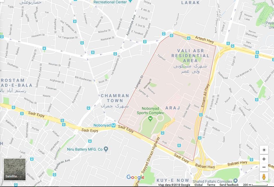 خیابان اقدسیه تهران کجاست؟