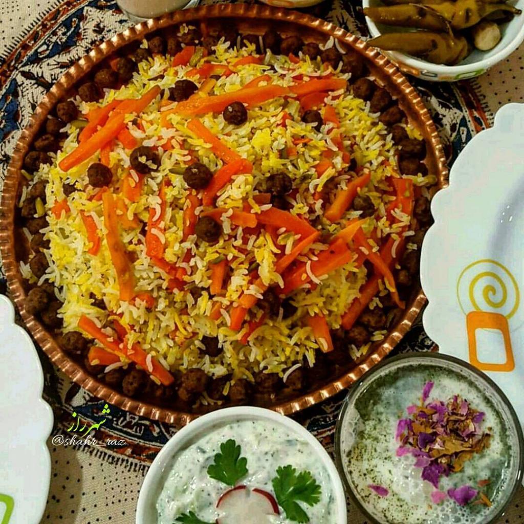 آموزش کامل پخت هویج پلوی شیرازی برای 6 الی 8 نفر