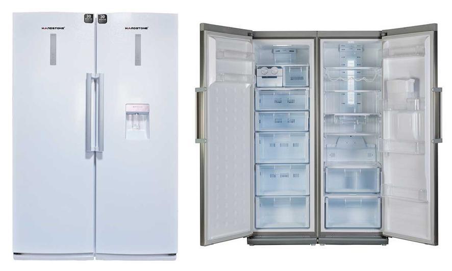 مقايسه یخچال و فریزر هیتما مدل AHPN30C2WB با يخچال فريزر دوقلوي هاردستون مدل HD5 Hardstone HD5 Refrigerator