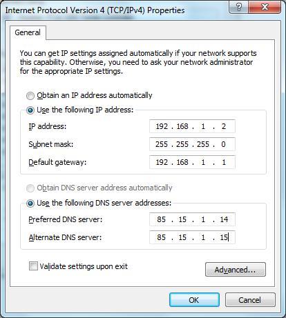 غیر فعال کردن DHCP