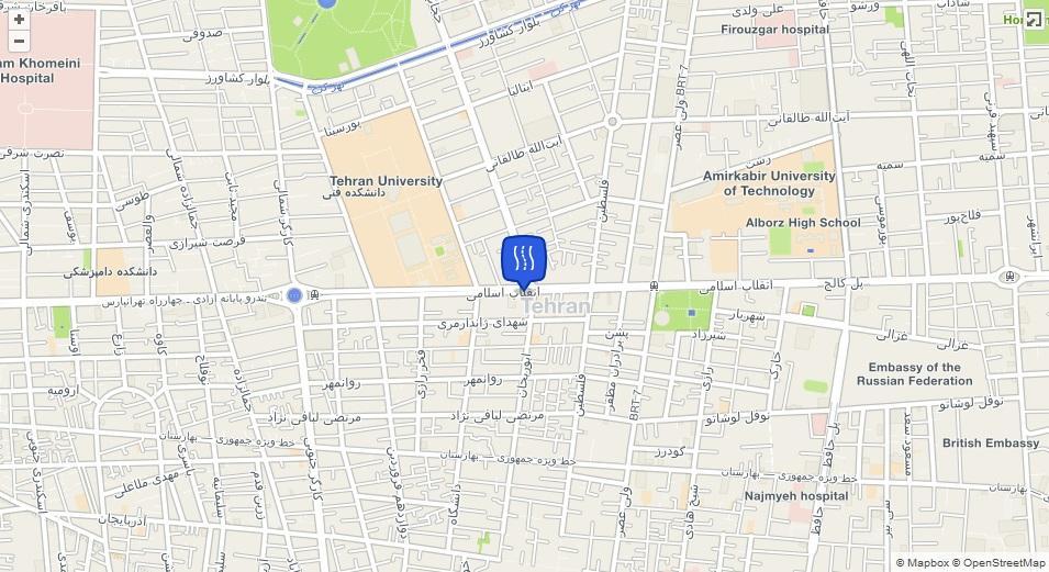 خیابان انقلاب اسلامی (شاهرضا) کجاست؟