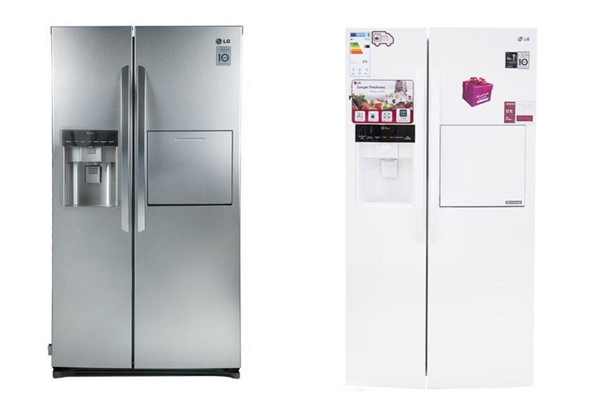 مقايسه یخچال فریزر دو قلوی هیوندای مدل 7051 HYUNDAI Refrigerator با يخچال و فريزر ال جي مدل SXP430 LG Refrigerator