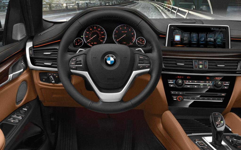 The BMW X6 xDrive50i with Exclusive Cognac/Black Nappa leather interior