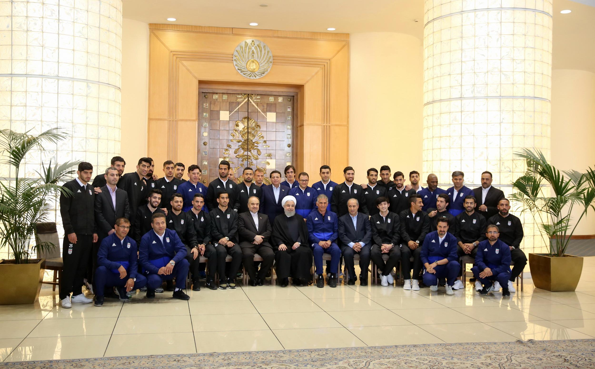 Hassan Rouhani Iran national football team