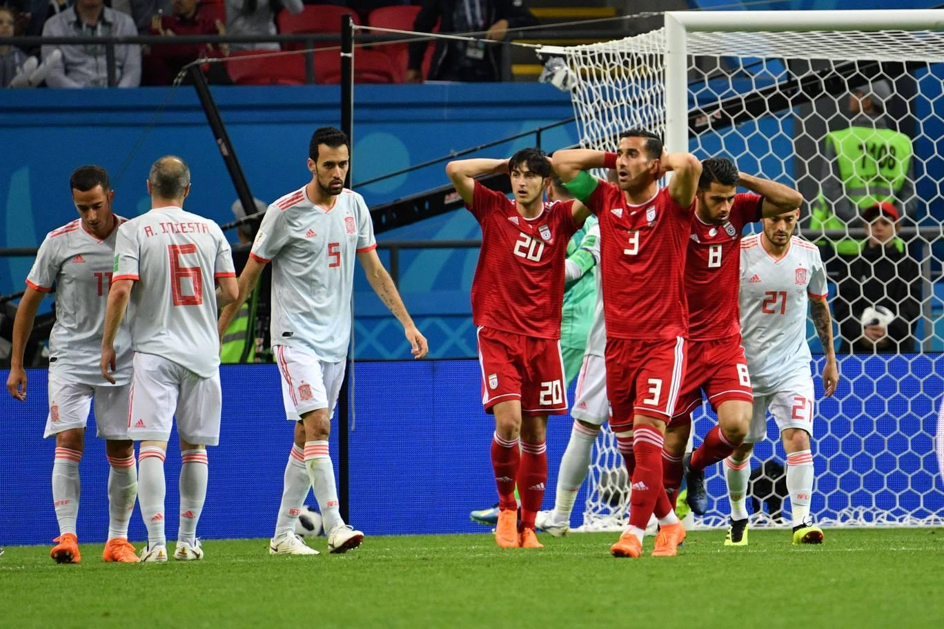 بازی ایران و اسپانیا در جام جهانی 2018