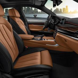 The BMW X6 xDrive50i in Dark Olive metallic