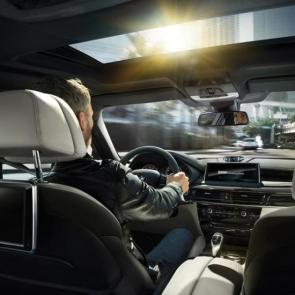 The BMW X6 xDrive50i with Exclusive Ivory White/Black Nappa leather interior