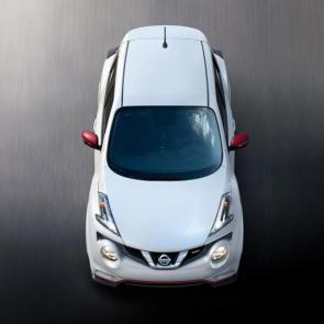 2017 Nissan JUKE® NISMO® aerial view shown in Pearl White