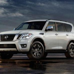 Nissan Armada® Platinum shown in Pearl White