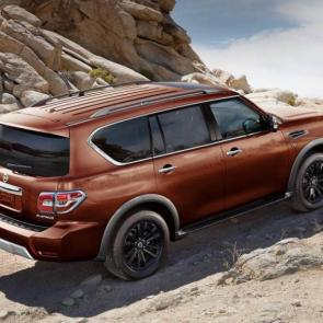 Nissan Armada Platinum® shown in Forged Copper, highlighting off-road performance