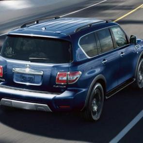 Nissan Armada Platinum® shown in Hermosa Blue