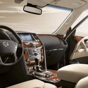 Nissan Armada® Platinum interior shown in Almond Leather