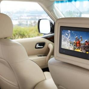 2017 Nissan Armada Platinum® DVD headrest monitors
