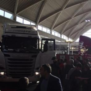 Scania new trucks in Tehran auto show 2017
