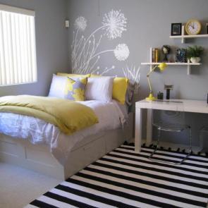 بهترین ایدهها برای دکوراسیون اتاق خوابهای کوچک #3