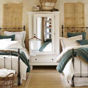 زیباترین ایدهها برای دکوراسیون اتاق خوابهای کوچک #7