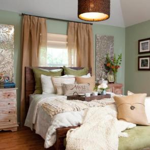زیباترین ایدهها برای دکوراسیون اتاق خوابهای کوچک #9