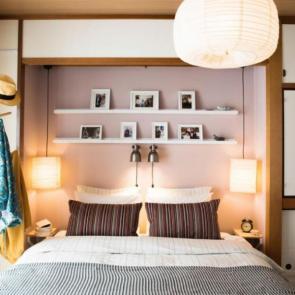 زیباترین ایدهها برای دکوراسیون اتاق خوابهای کوچک #12