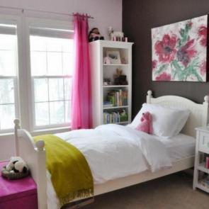 زیباترین ایدهها برای دکوراسیون اتاق خوابهای کوچک #16