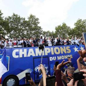 French World Cup victory parade 2018