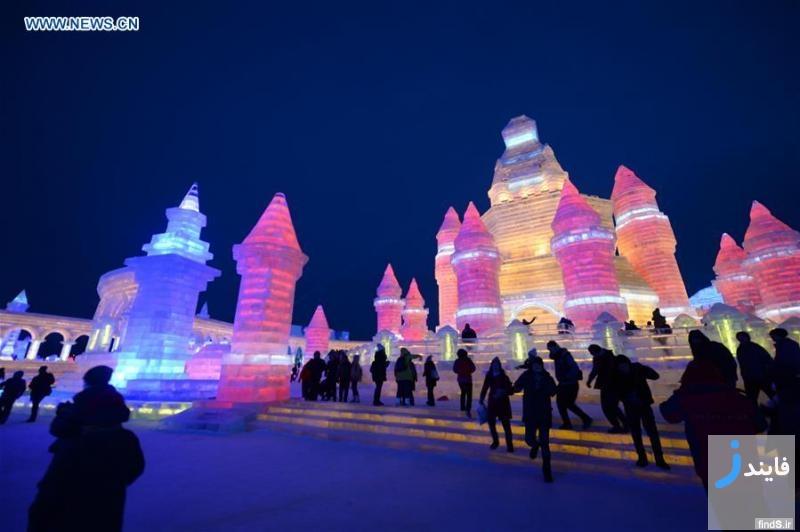 دیدنی ترین تصاویر فستیوال برف و یخ هاربین در چین