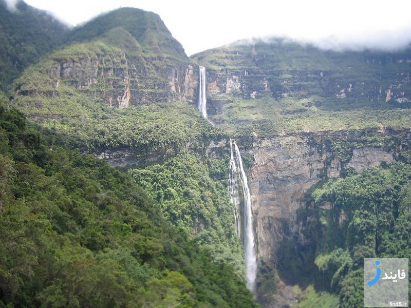 تصاویری دیدنری از بلندترین آبشارهای جهان + ارتفاع