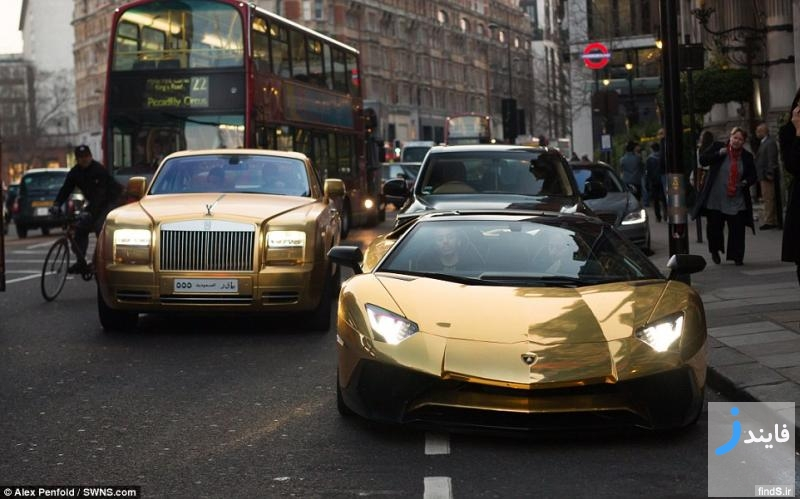 سوپر ماشین های گران قیمت پلاک سعودی و قطری در خیابان های لندن
