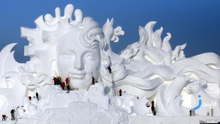 تصاویری دیدنی از جشنواره مجسمه های یخی هاربین