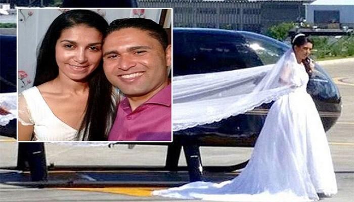 عروسی که در روز عروسیاش با هلیکوپتر سقوط کرد