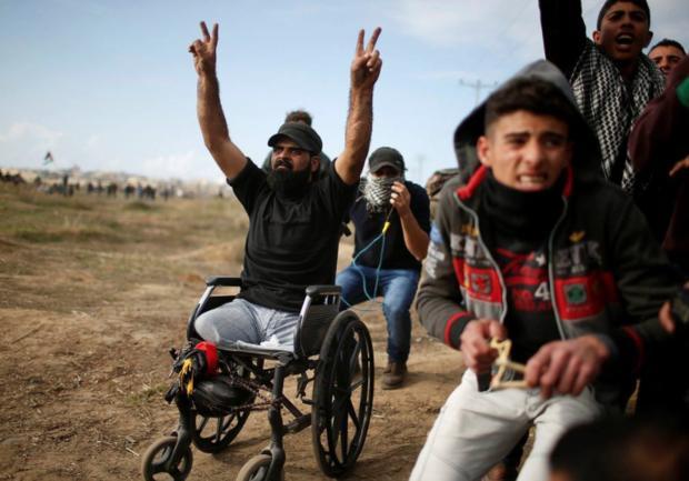 شهادت یک فلسطینی معلول، خشم مردم غزه را برانگیخت