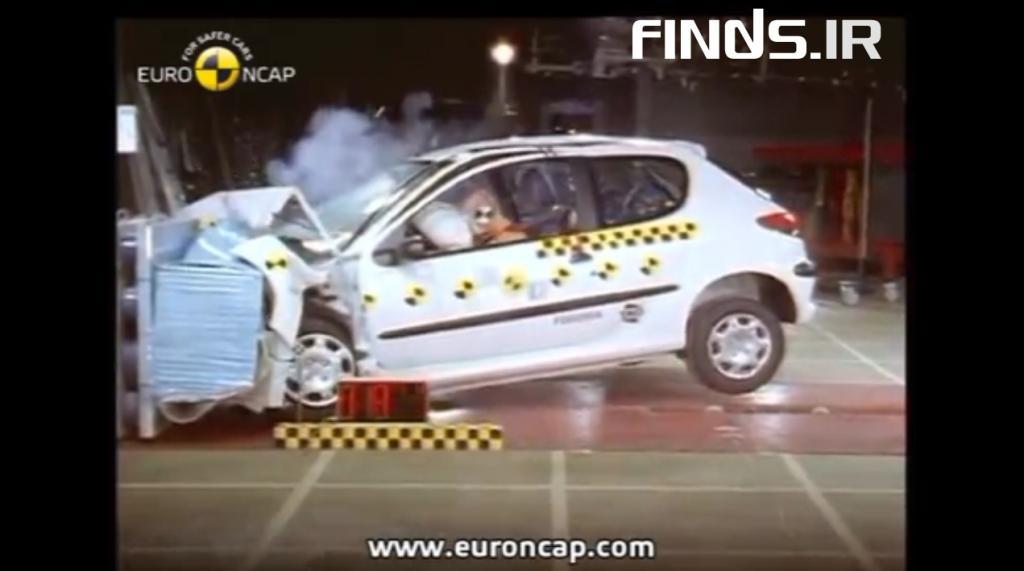 تست تصادف پژو 206 را تماشا کنید