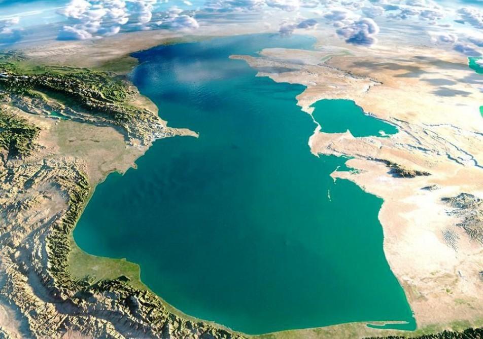 انتشار تصویر یک فرآیند طبیعی عجیب در دریای خزر