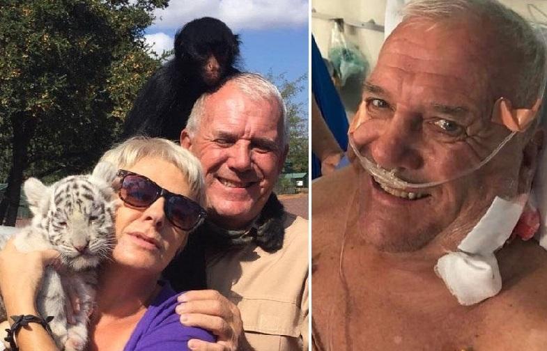 نجات معجزه آسای مرد 72 ساله پس از حمله شیر گرسنه را ببینید!