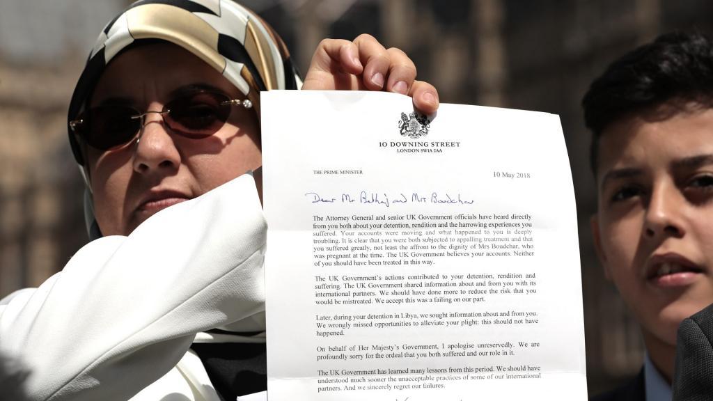 عذرخواهی رسمی دولت انگلیس از یک مخالف حکومت سرهنگ قذافی با 500 هزار پوند پول نقد!