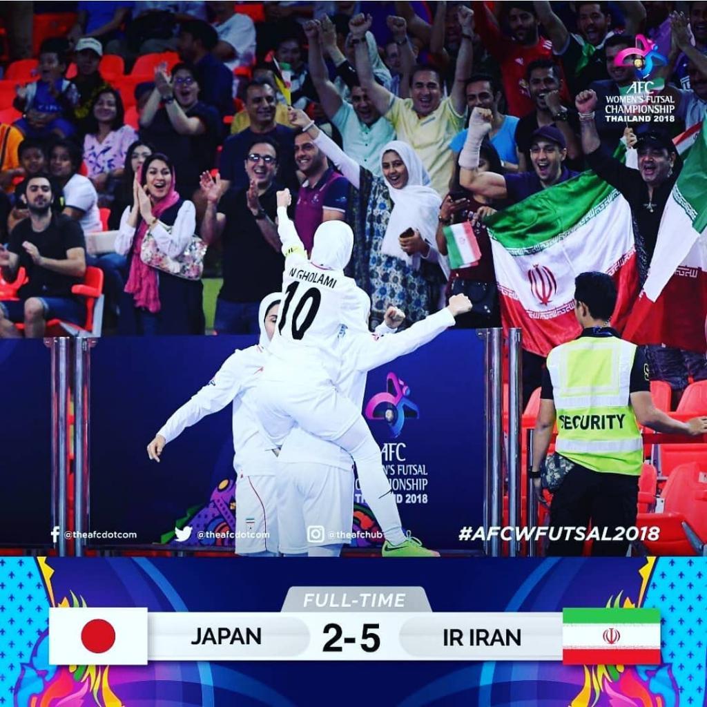 تیم فوتسال زنان ایران قهرمان فوتسال آسیا 2018 شد