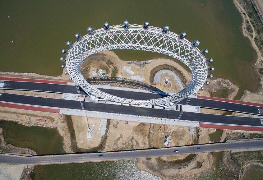 افتتاح بزرگترین چرخ فلک بدون چرخدنده جهان را تماشا کنید