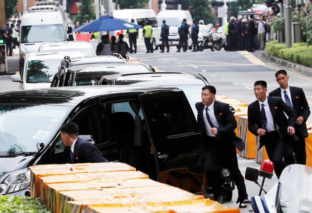 رهبر کره شمالی برای دیدار تاریخی با ترامپ وارد سنگاپور شد