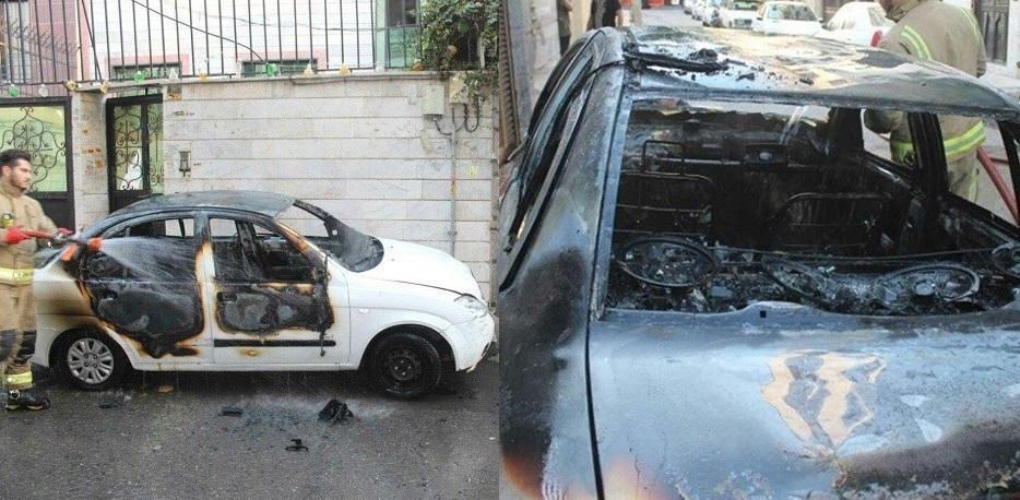 سایپا تیبا، بی دلیل آتش گرفت!