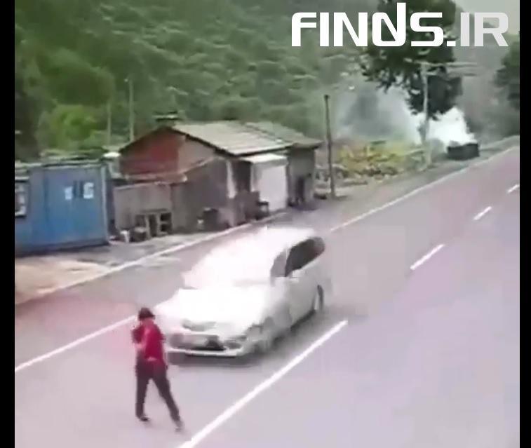 خوش شانسی این زن چینی را تماشا کنید!