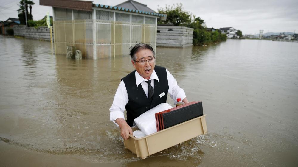 سیل مرگبار در ژاپن، جان 60 نفر را گرفت