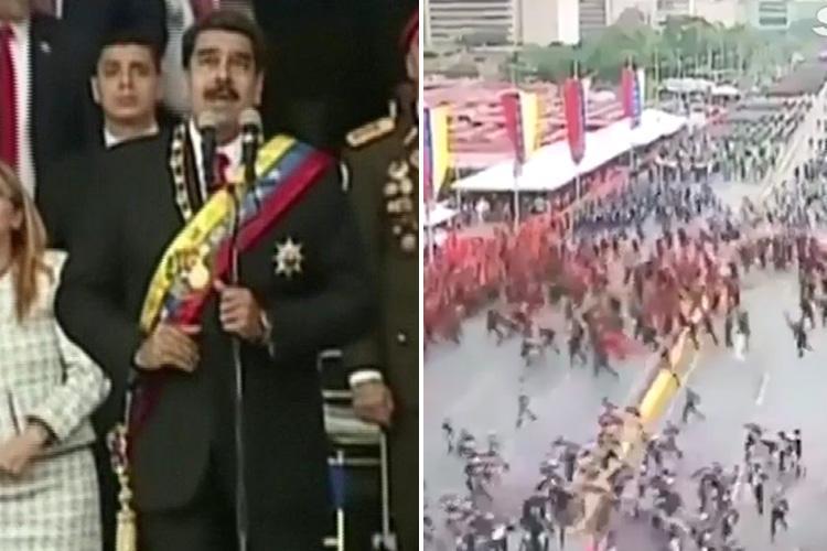 ترور ناموفق نیکلاس مادورو با پهپادهای انفجاری + تصاویر