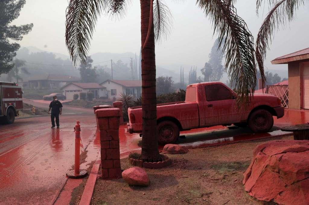 اختلاف مرد آمریکایی با همسایه هایش، جنوب کالیفرنیا را به آتش کشاند!