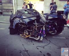 تصاویر تصادف سوپر ماشین پاگانی Huayra پیِرل + گالری عکس