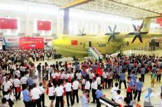 تصاویر بزرگترین هواپیمای آبنشین جهان + ساخت چین