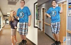 پسر 19 ساله آمریکایی بلندقدترین جوان جهان لقب گرفت