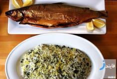 طرز تهیه سبزی پلو با ماهی و سس انار مخصوص شب یلدا