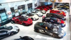 تصاویر کلکسیون سوپر ماشین های شاهزاده بحرینی + ویدیو