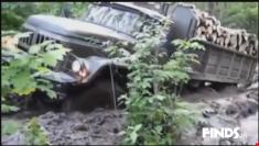 تست آفرود بسیار تماشایی کامیون روسی ZIL 131