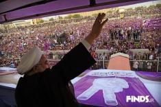آمار غیر رسمی حکایت از پیروزی حسن روحانی دارد