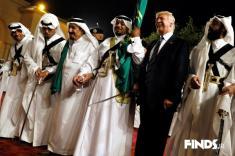 رقص شمشیر ترامپ و وزیر خارجه آمریکا با پادشاه عربستان